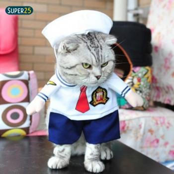 Fantasia - Roupa De Marinheiro - Cachorros E Gatos