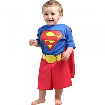 Fantasia Superman Super Homem Bebe C/capa Cinto Tamanho