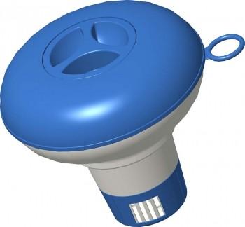 Flutuador Químico Para Cloro Solido Azul E Branco Mor