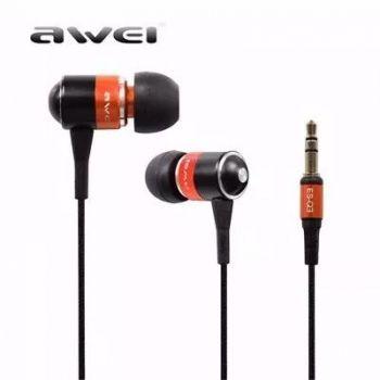 Fone De Ouvido Auricular Awei - Anti Ruído Super Bass Laranja
