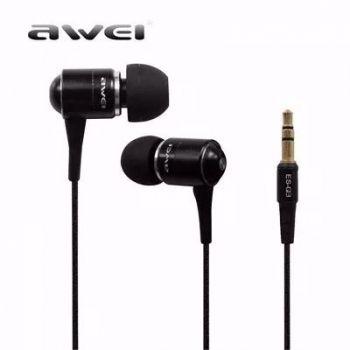 Fone De Ouvido Auricular Awei - Anti Ruído Super Bass Preto