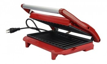 Grill Panini Lenoxx Pgr155 Inox Red - 127v