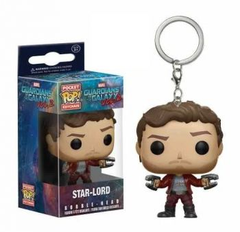Guardiões Da Galáxia Pocket Pop! Keychain Star Lord Funko