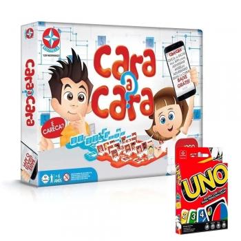 Jogo Cara A Cara App Estrela + Jogo Cartas Uno Copag