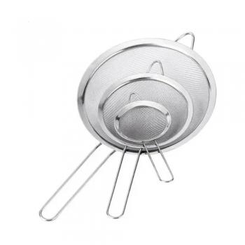 Jogo De 3 Peneiras De Aço Inox Luxo - Utensílios De Cozinha
