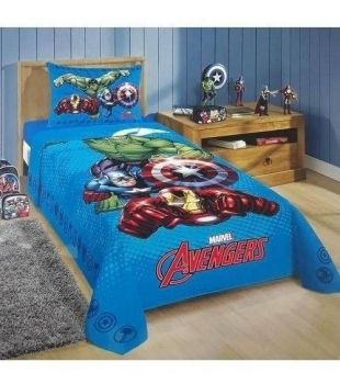 Jogo De Cama 2 Pçs Infantil Avengers Vingadores Herois