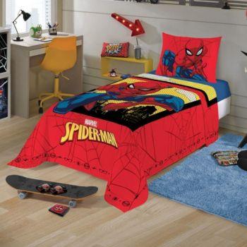 Jogo De Cama 2 Peças Infantil Homem Aranha Spider Man Menino