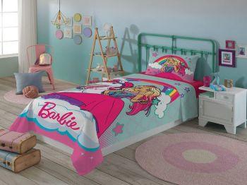Jogo De Cama Barbie Menina Solteiro Infantil 2peças Lepper