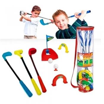 Jogo De Golfe Golf Infantil Em Sacola Braskit 590-b