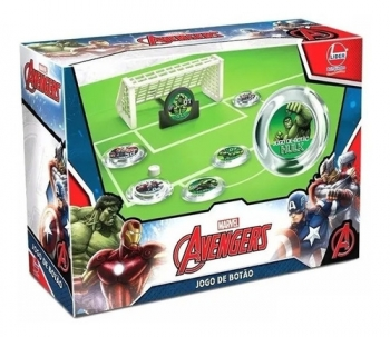 Jogo Futebol De Botão Com Trave Avengers Vingadores - Líder