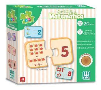 Jogo Pedagógico Descobrindo A Matematica 20 Pç Nig Madeira