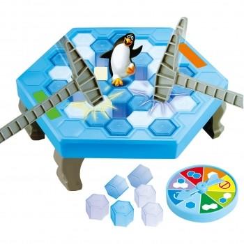 Jogo Quebra Gelo Pinguim Game Com Martelo Clássico Divertido