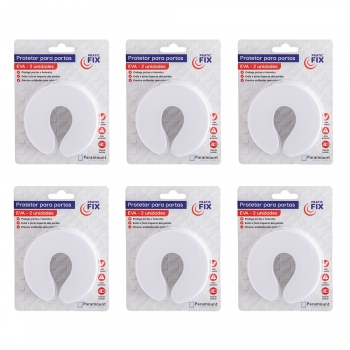 Kit 12 Protetor De Porta Trava De Dedos Segurança Branco