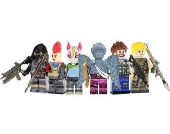 Kit 6 Bonecos Fortnite Compatível Lego Acessórios Kit Festa