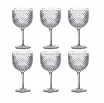 Kit 6 Taças De Gin Tônica - Luxxor 600 Ml Transparente