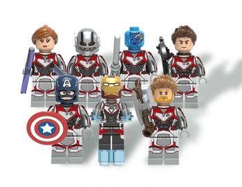 Kit Bloco de Montar Compatível Lego C/ 7 Bonecos Marvel Vingadores Ultimato Endgame