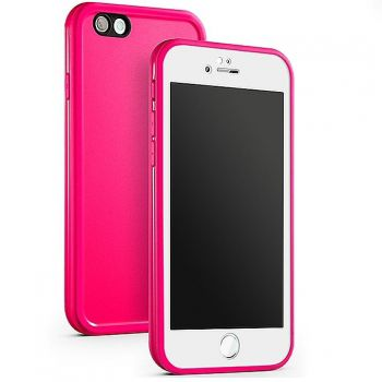 Kit Capinha Case Capa Prova Dágua Waterproof Iphone 7 Plus Rosa