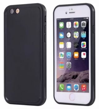 Kit Capinha Case Capa Prova Dágua Waterproof Iphone 8 Preta