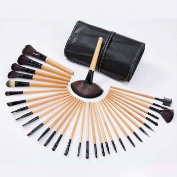 Kit De Pincel Maquiagem Profissionl 32 Pcs C/estojo