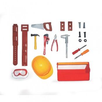 Kit Ferramentas 20pcs C/ Capacete Engenheiro Lider 2381