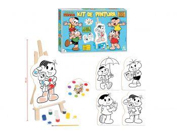 Kit Quadros De Pintura Infantil Turma Da Monica Com Cavalete Nig