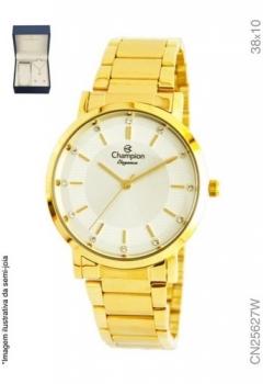 Kit Relógio Champion Feminino Dourado Cn25627w