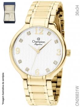 Kit Relógio CN26831W Feminino Champion Dourado