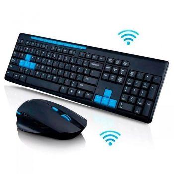 Kit Teclado E Mouse Gamer Sem Fio 1600dpi Wireless 10 Mts
