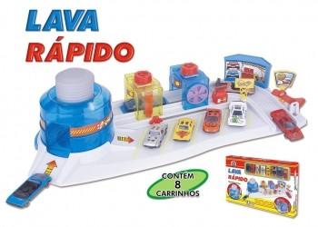 Lava Rápido Brinquedo Com 08 Carrinhos Miniatura Menino