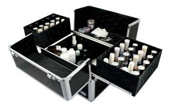 Maleta Para Esmaltes Cosméticos Manicure Profissional Preta