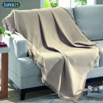 Manta Sofá Dohler Marrocos 150x210 Cores 100% Algodão
