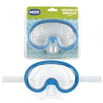 Máscara De Mergulho Snorkel Infantil Mor 001901 Diversas Cores