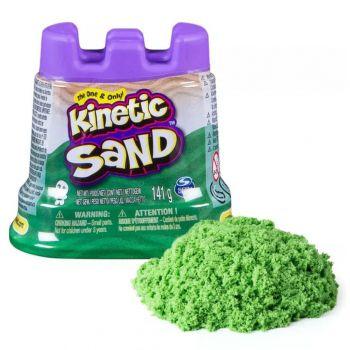 Massa Areia Verde Neon 141g C/ Molde De Castelo Kinetic Sand
