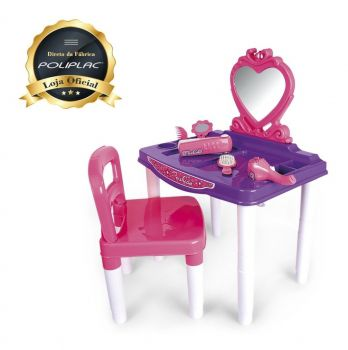 Master Penteadeira Fashion Com Cadeira - Poliplac® - 7263