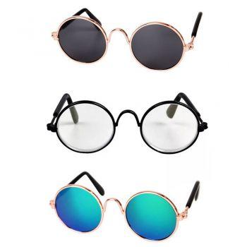 Óculos De Sol Pet E Transparente Cão E Gato