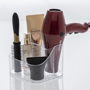Organizador Banheiro Secador Escova De Cabelo Cosméticos Maquiagem 1082