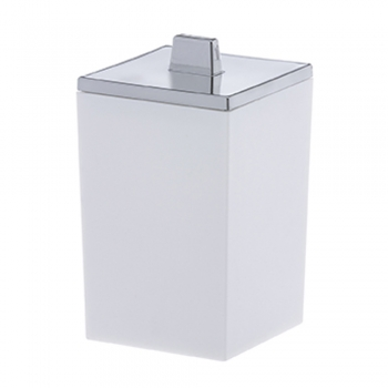 Organizador De Cosméticos Porta Algodão E Cotonete Quadratta