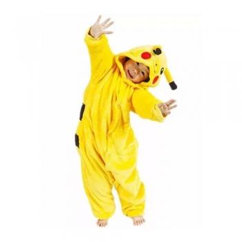 Pijama Pokemon Pikachu Cosplay Fantasia Infantil Fa002