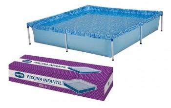 Piscina Estrutural Quadrada Mor 001003 Com Capacidade De 1500 Litros De 1.89m De Comprimento x 1.89m De Largura Azul