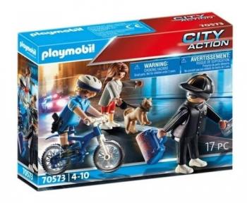 Playmobil 70573 Policial Com Bicicleta E Fugitivo Sunny 2546