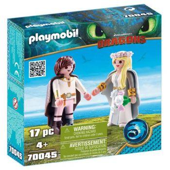 Playmobil Como Treinar Seu Dragão 3 Soluço E Astrid 70045