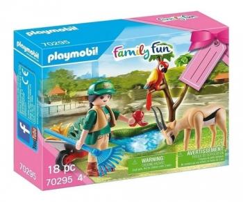 Playmobil Gift Set Zoológico Com Bonecos E Animais - 2526