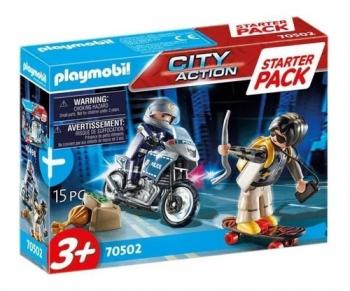 Playmobil - Perseguição Policial Com Fugitivo 2549