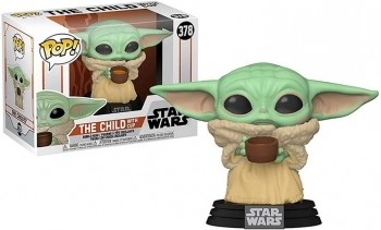 Pop Bobble Head Star Wars Baby Yoda The Child With Cup #378