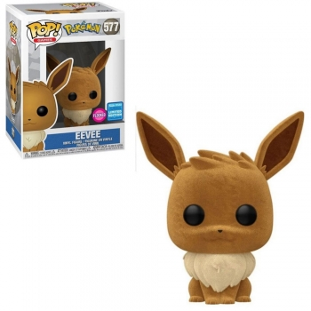 Pop Funko Pokemon Eevee # 577 Flocked Limited Edition Pokemon