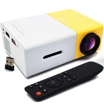 Projetor Mini Led 600l Data Show Full Hd 1080p Hdmi Av Usb