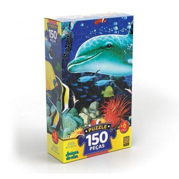 Puzzle 150 Peças Amigos Do Mar Grow