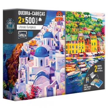 Quebra Cabeça 2 x 500 Pçs Litorais Grécia E Itália - Toyster