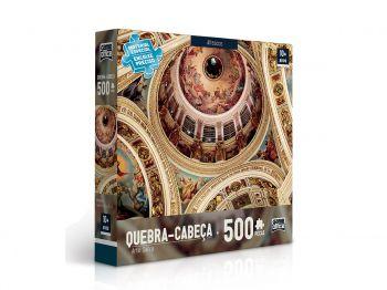 Puzzle Quebra-cabeça 500 Peças Arte Sacra Afresco Toyster