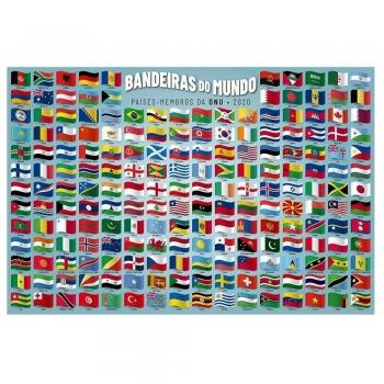 Quebra-cabeça Bandeiras Do Mundo 200 Pçs - Grow 4034